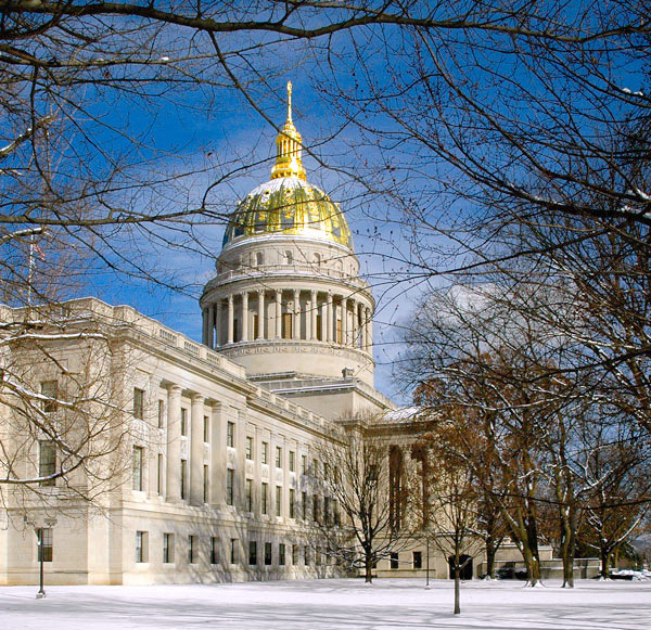 WV State Capitol in Winter
